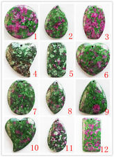 DJ-10 Beautiful Different shapes of Ruby in Fuchsite Pendant Bead