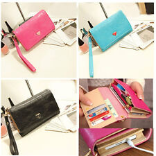 New Womens Envelope Wallet Bag Purse Samsung Galaxy S2 S3 Iphone 4 4S Phone Case