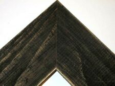 "2.5"" Country Charcoal Black Rustic Distressed Wood Picture Frame-Standard"