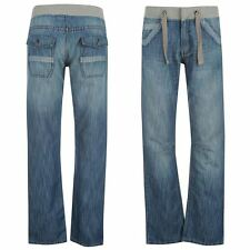 Voodoo Dolls Womens Ladies Fashion Clothing Ribbed Waist Jeans