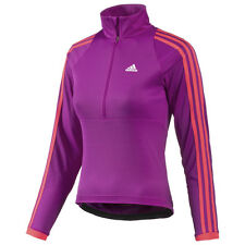 New Womens Adidas Response Long Sleeve Tour Cycling Jersey Size Medium Large