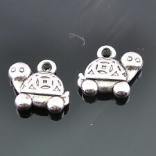 20/100pcs Tibetan Silver Alloy Tortoise Pendants accessories 14X12mm DZ249