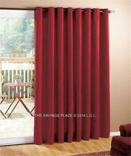 LIGHT FILTERING PATIO FRENCH DOOR CURTAINS SILKY SMOOTH MATERIAL GROMMET TOP