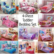 4pc Girls TODDLER BEDDING SET Comforter + Sheets Childs Bed Room in a Bag Crib