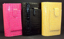 Buxton Faux Croc Clutch Purse Strap Checkbook Cover, Hot Pink, Black or Tan NEW