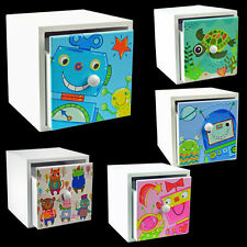 KIDS STORAGE BOX CHEST DRAWER BEDROOM TOY CABINET CHILDRENS TOYS NEW WOODEN UNIT