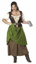 Tavern Maiden Beer Wench PIRATE Adult Women's Renaissance Fair Costume Plus Size