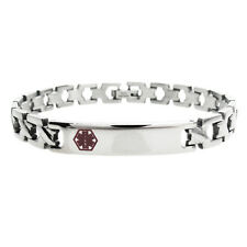 "Stainless Steel 7.5"" Lady's Link Personalized Medical Bracelet (FREE ENGRAVING)"