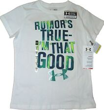 RUMOR'S TRUE I'M THAT GOOD YOUTH GIRLS UNDER ARMOUR TEE TOP KIDS COTTON T-SHIRT