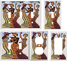 AFRICAN LADIES DRESSES DANCE  IMAGE #1  LIGHT SWITCH COVER PLATE U PICK SIZE