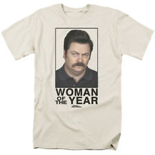 Parks & Recreation Ron Swanson Woman Of The Year NBC TV Show T-Shirt Tee