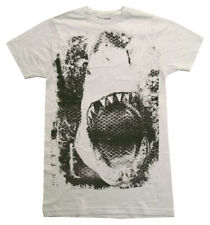 Jaws Shark Mouth Screen Movie Adult T-Shirt Tee
