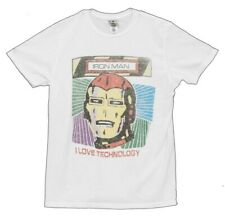 Marvel Comics Iron Man I Love Technology Vintage Style Junk Food Adult T-Shirt
