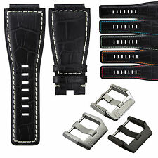 Leather Watch Strap for Bell & Ross BR 01 - BR 03 Aviation by StrapJunkie UK