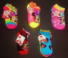 MINNIE MOUSE DISNEY Multi-Pack Low Cut Socks Girls Ages 4-10 (Sock Size 6-8.5)