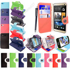 Book Wallet PU Leather Magnetic Flip Hybrid Case Cover For Various Mobile+Stylus