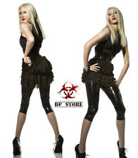 DARQUE GOTHIC FETISH VINYL RUBBER PVC WET LATEX LOOK CAPRI JEANS LEGGING PANTS