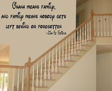 Ohana Means Family Disney Lilo & Stitch Vinyl Wall Quote Decal 99091