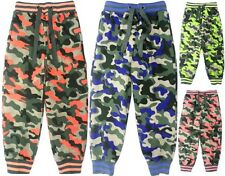 KIDS BOYS GIRLS JOGGERS CAMOUFLAGE ARMY JOGGING BOTTOMS BNWT