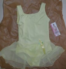 NWT TANK GIRLS BALLET DANCE DRESS Lemon Body Wrappers 2235 PrincessAurora rostte