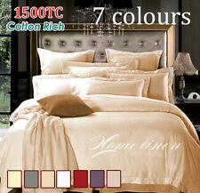 Hotel Quality 1500TC Cotton Rich Sheet Set, Quilt Cover set, Fitted Sheet Set