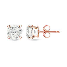 Auriya 14k Rose Gold 1/4ct to 3/4ct TDW Round Diamond Stud Earrings (H-I, SI1-SI