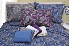 Flannel Sheet Set Solid OR Paisley Bed Sheets 100% Cotton Various Colors/Sizes