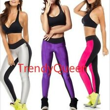 Neon Color Women's fashion Yoga Sports Wear Leggings Stretchy Tights Long Pants