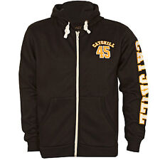 Mens Catskill Callahan Zip Fleece Hood In Black From Get The Label CC1