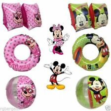 DISNEY SWIMMING ARMBANDS RING BEACH BALL MINNIE MICKEY MOUSE FLOATS POOL WATER