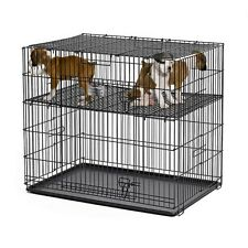 Midwest Puppy Play-pen w Plastic Pans & adjustable raised floor grids dog cage