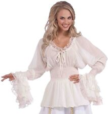 Medieval Renaissance Fair Costume Lace Blouse Peasant Shirt