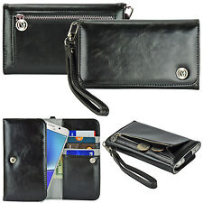 caseen Luxury Card Wallet Wrist Strap Case Cover for T-Mobile Smart Cell Phone