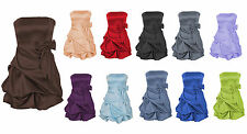 Pick-Up Bubbled Hem Skirt Bridesmaid Wedding Party Formal Prom Ball Dress 0 -18