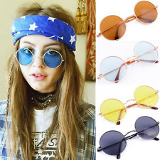 Hot sell Unisex Retro Style Round Gold/Silver Metal Frame High Quality Sunglass