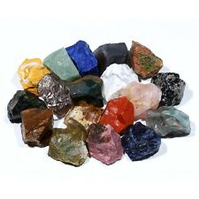 1/2lb Bulk Large Size 1'' Rough Gemstone Mine Reiki Crystal Healing Free Pouch