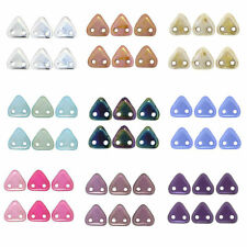 5 Gram Pack of 6mm Czech 2 Hole Triangle Beads - Lots of Colours