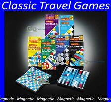 Magnetic Travel Games Traditional Board Pocket Size Kids Childrens Car Airplane