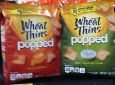 Nabisco Wheat Thins Popped Chips Cracker Crisps 50% Less Fat ~ Pick One
