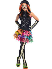 Child Monster High Skelita Calaveras Outfit Fancy Dress Costume Halloween Kids
