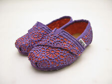 TINY TOMS CLASSIC SLIP ON TODDLER PURPLE-ORANGE CROCHET 10001925