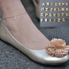 New 26 English letters Chain Anklet  Foot Jewelry Barefoot Sandal Beach WHS550