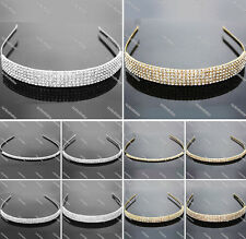 New Fashion Sparkly Rhinestone Crystal Hair bands Wedding Party Headband Hoop
