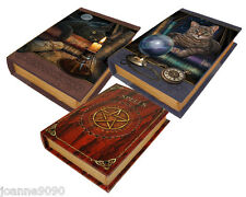 NEMESIS NOW WOODEN BOOK STORAGE TRINKET BOX CATS SPELLS MYTHICAL FANTASY GIFT