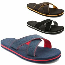 New Mens Dunlop Textile Urban Beach Shower Gym Flip Flop Sandals UK Sizes 6-12