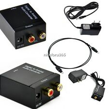 Digital Optical Coaxial Toslink to Analog Audio Converter Adapter RCA L/R N4U8
