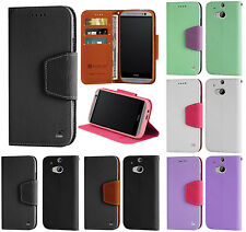 NEW INFOLIO WALLET CREDIT CARD ID CASH CASE COVER STAND FOR HTC ONE M8 (2014)