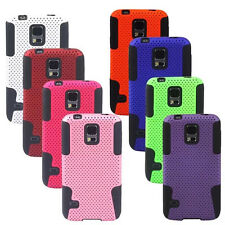 Hybrid Silicone Soft Combo Rubber Defender Hard Case For Samsung Galaxy S5 i9600