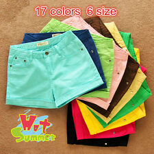 New Korean Women Candy Summer Shorts Short Jeans Pants Ladies Denim Short Pants