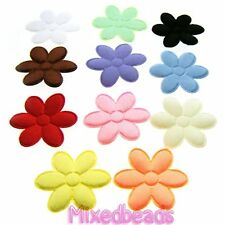 "*U PICK* 100-110 Satin Flower 3/4"" applique padded fabric hair craft scrapbook"